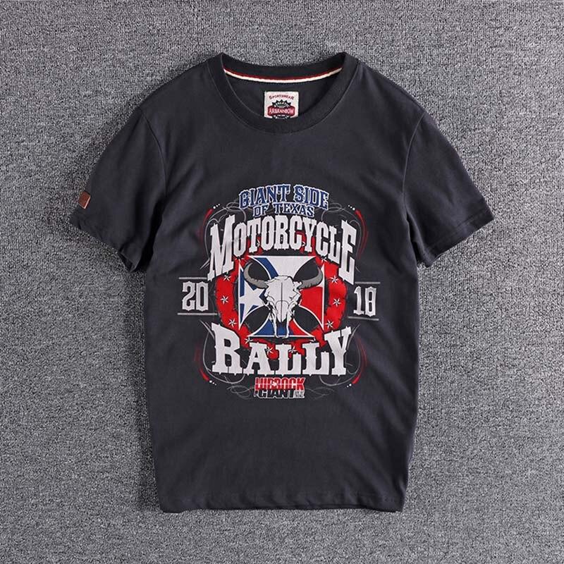 2020 Summer New British Retro Bull Print Cotton Slim Fit Men's Round Neck Short Sleeve T-shirt High Quality Cheap Wholesale Tops