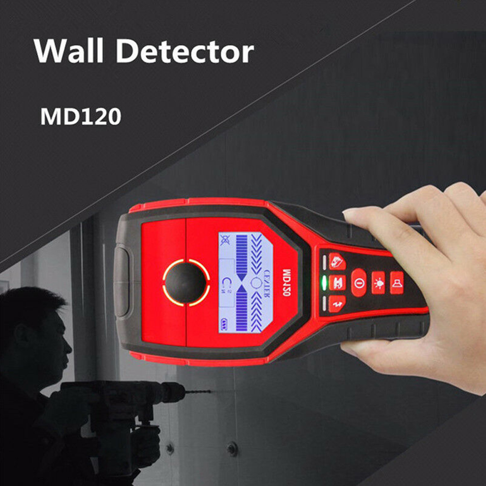 Antidérapant D'entretien de Réparation Industriel Multifonctionnel Mur Détecteur De Métaux Bois Détecteur LCD Affichage Rapide Arrêt Automatique Portable - 4