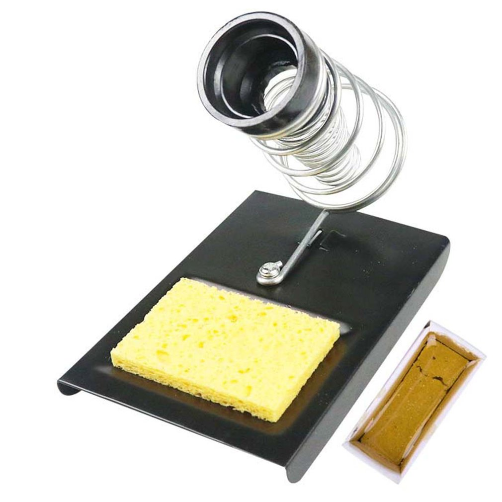 All-metal Spring Multi-functional Electric Soldering Iron Station Soldering Stand With Soldering Solid Colophony And Sponge