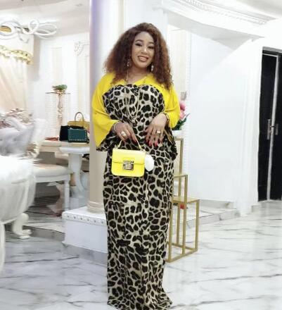2020 new arrival sexy summer african women o-neck printing plus size long dress