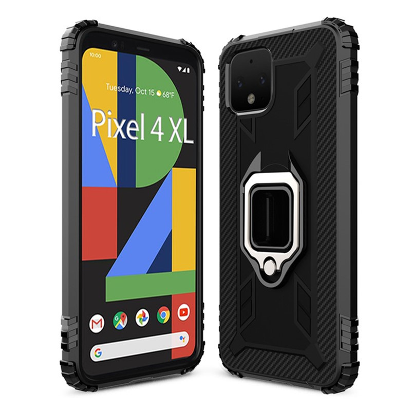 Magnetic Armor Case For Google Pixel 4 / 4XL Metal Ring Holder Stand Cover For Pixel 4 XL Shockproof Full Protection Coque Capa