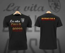 La Vita Giallo Rosso Galatasaray Fan erkek T Shirt Siyah