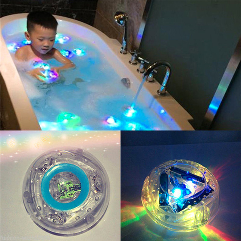 1Pc Baby Kids Color Change Glow Bathtub Shower Floating Toy Bathroom LED Light Toys Enjoy The Bath Pleasure for Children