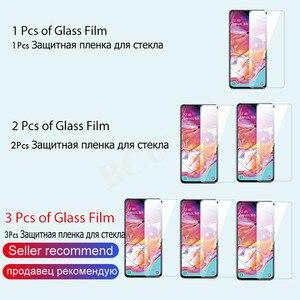 Image 2 - 3 1Pcs מגן זכוכית לסמסונג גלקסי A50 A51 A30 A20 A60 מסך מגן עבור סמסונג A40 A70 a80 A90 A10 מזג זכוכית