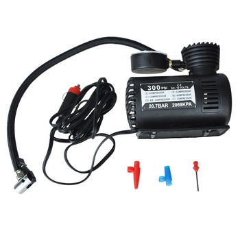 12v Car Auto Electric Pump Air Compressor Portable Tire Inflator 300ps portable air compressor car tire inflator tool black red