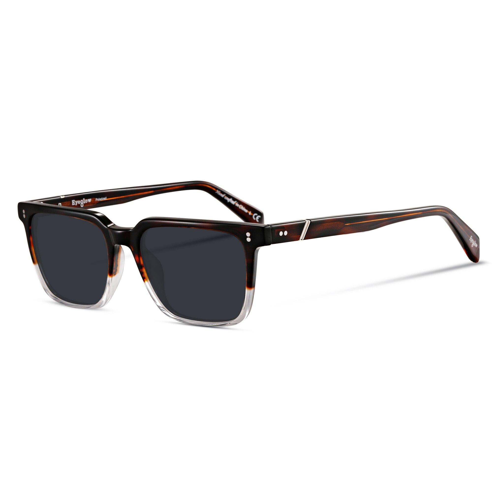 Square sunglasses men wide size luxury brand design sun glasses for men polarized