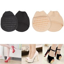 1 Pair Women Forefoot Socks For High Heel Shoes Pad Anti-slip Sweat Absorb Forefoot Pad Half Yard Pads Pain Relief Forefoot Sock