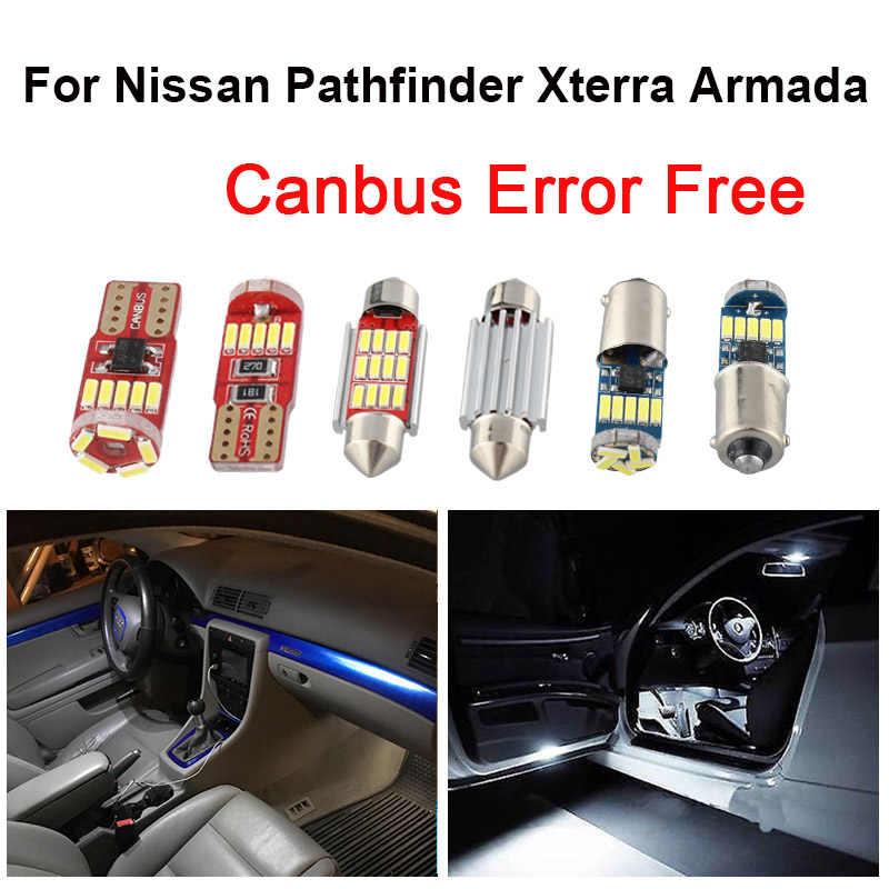 white car bulbs led interior reading light kit for 2000 2001 2018 2019 nissan pathfinder xterra armada map dome lamp signal lamp aliexpress aliexpress