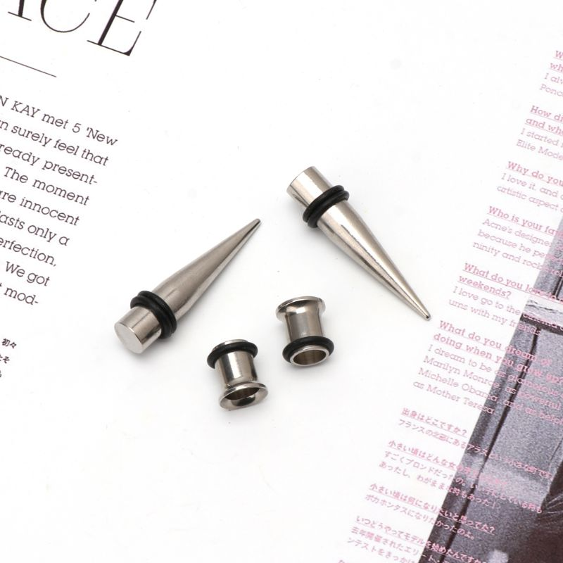 Gauge 7mm Pair of 316l Steel Tapers and Tunnels Ear Stretching Kit  Body Bijoux