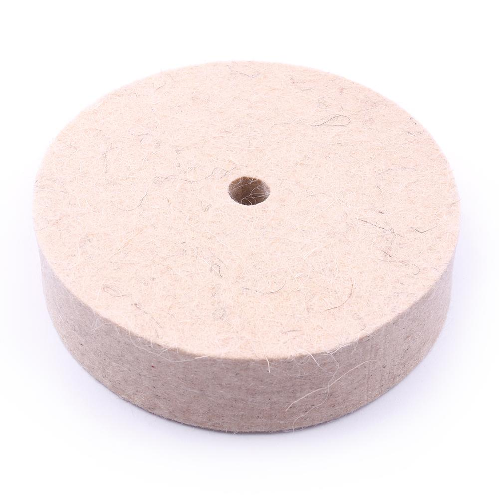 FELT WHEEL POLISHING WHEEL BUFF JEWELRY HARD WOOL BUFFING DISC HOLE DIA 10MM
