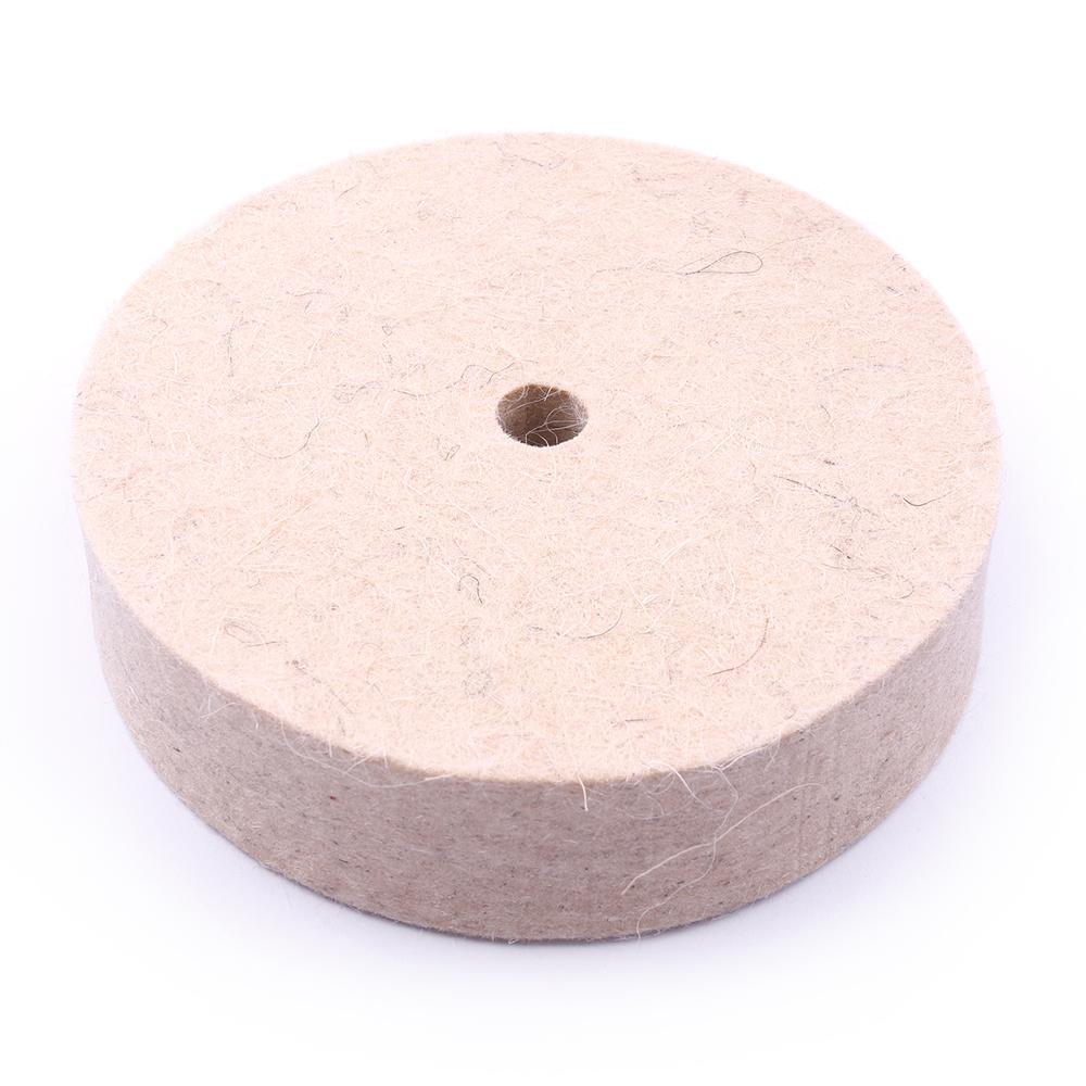 Roda de Feltro Disco de lã de Polimento Diâmetro do Furo Polimento Roda Buff Jóias Duro 10 Dois Milímetros
