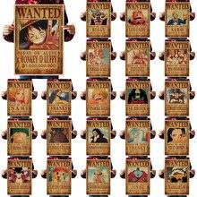 Набор 23 Одна деталь плакаты 51,5x36 см домашний Декор наклейки на стену Винтаж Бумага Одна деталь плакаты аниме плакаты Luffy Wanted