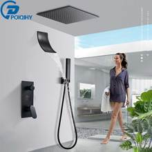 Mixer Tap Shower-Faucet-Set Spray-System Waterfall Black Display Digital Handheld LCD