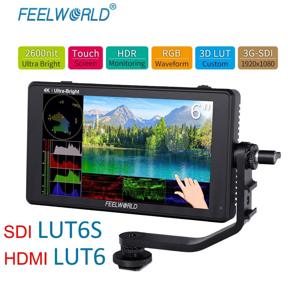 FEELWORLD LUT6S monitor de campo de cámara de 6 pulgadas 2600nits - Cámara y foto