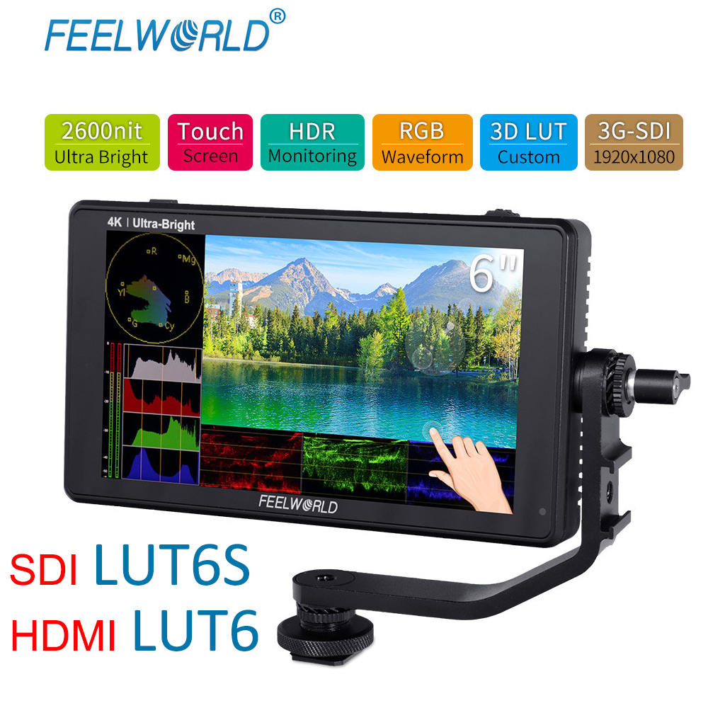 FEELWORLD LUT6S 6-inčni terenski monitor kamere 2600nits HDR / 3D - Kamera i foto - Foto 1