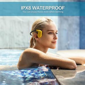 Image 5 - Tayogo W02 Schwimmen Knochen leitung Kopfhörer Bluetooth Headset Handfree Handphone mit FM Pedo Meter IPX8 Wasserdichte MP3 Player