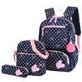 3 шт.  школьные сумки с принтом для девочек-подростков  школьный рюкзак  модные школьные рюкзаки для детей  детская дорожная сумка  черный рюк...