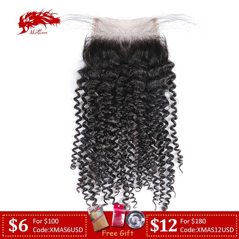 Ali Queen Hair Extra Pro.Ratio 10A Kinky Curly Brazilian Virgin Hair 10