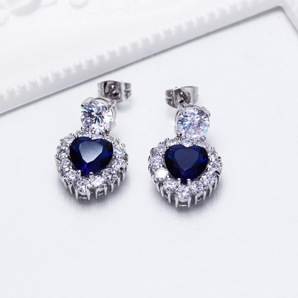 Heart Blue stone earrings (6)