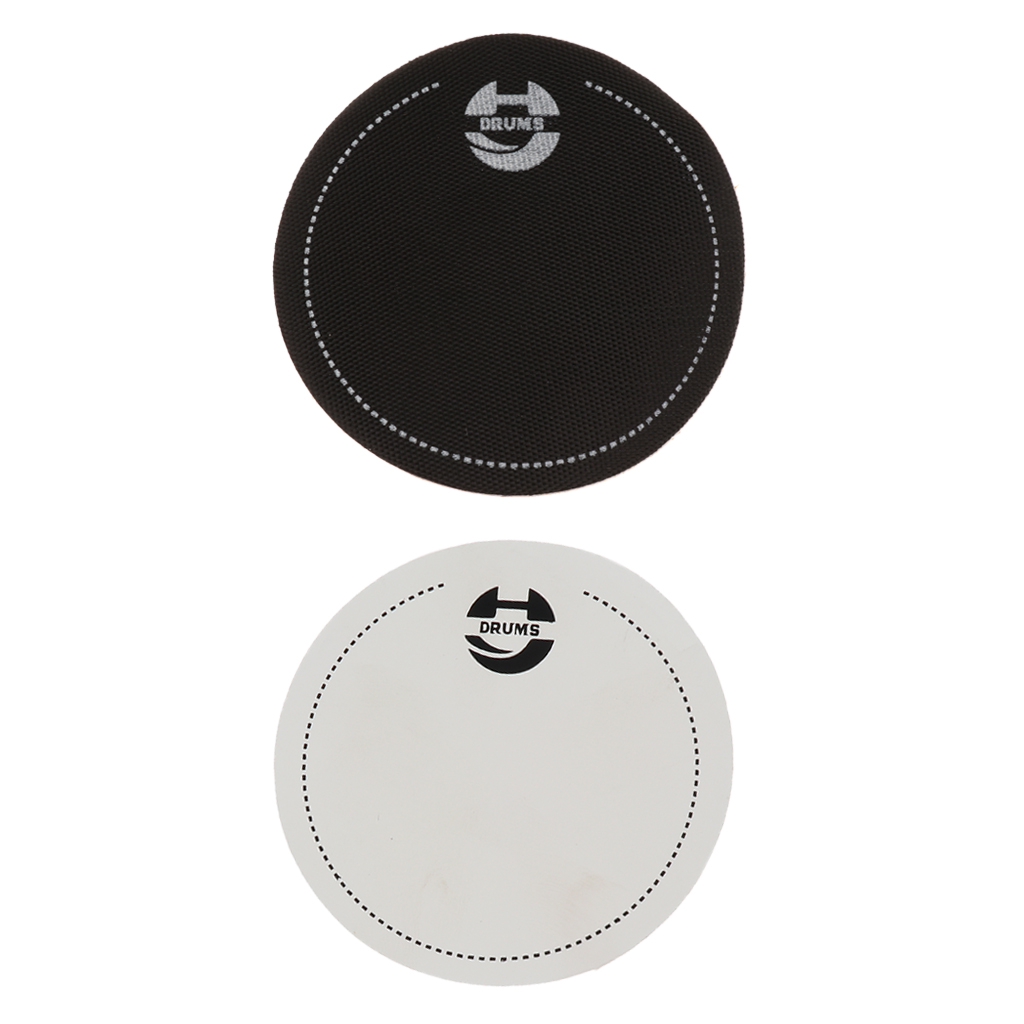 Set Of 2 Drumhead Strengthen Impact Pad Patch For Drum Kit Practice