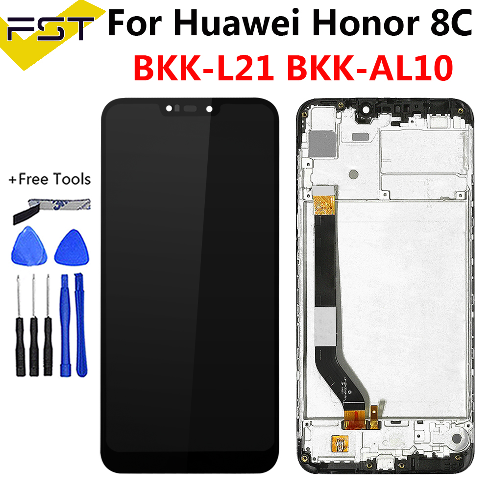 6.26''LCD For Huawei <font><b>Honor</b></font> <font><b>8C</b></font> LCD <font><b>Display</b></font> <font><b>Touch</b></font> <font><b>Screen</b></font> Digitizer Assembly <font><b>with</b></font> Frame For <font><b>Honor</b></font> Paly <font><b>8C</b></font> BKK-AL10 BKK-L21 LCD image