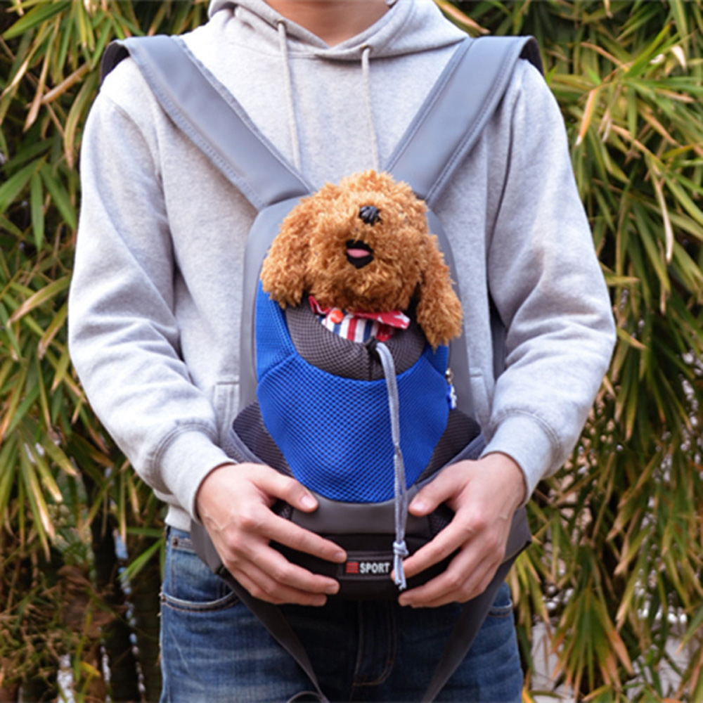 Outdoor Pet Dog Carrier Bag Pet Dog Front Bag New Out Double Shoulder Portable Travel Backpack Mesh Cat Backpack