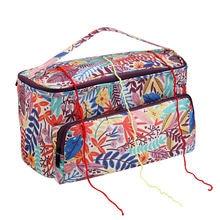 Портативная плетеная Сумка большая сумка для хранения пряжи