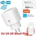 Wi-Fi Smart Plug 16A стандарта ЕС, США, Великобритании адаптер Беспроводной пульт дистанционного управления голосовой Управление Мощность с контро...