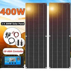 2020 Neu Hohe Effizienz Solar Panel 400W 2*200W Schwarz Backplane Batterie Ladegerät für Auto Yacht Boot RV Camping Caravan Home