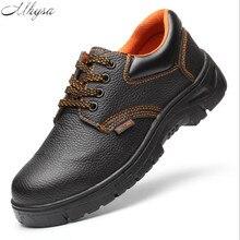 Mhysa/ г.; осенне-зимние ботинки; мужские ботинки со стальным носком; Мужская защитная обувь; нескользящие ботильоны; рабочие ботинки; zapatos de hombre