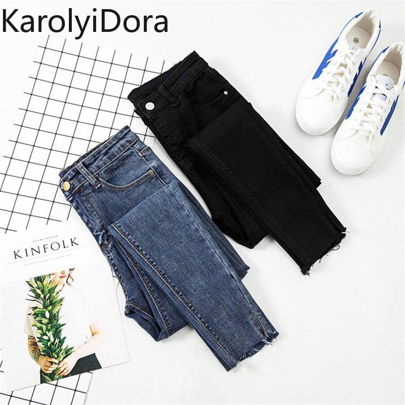 Jeans Women Black Pants High Waist Denim Women Pants High Elastic Skinny Pencil Stretch Women Pants Plus Size S-XL
