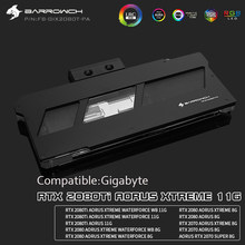 Blok wodny GPU dla Gigabyte RTX2080TI AORUS XTREME 11G,RTX 2080/2070 AORUS XTREME 8G/, chłodnica GPU, FB-GIX2080T-PA