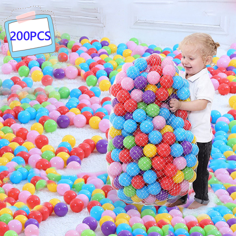 200 Pcs/lot Eco-Friendly Colorful Ball Soft Plastic Ocean Ball Funny Baby Kid Swim Pit Toy Water Pool Ocean Wave Ball Dia 5.5cm