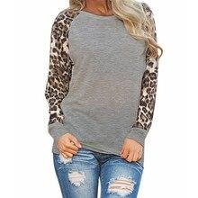 30# блузка женская леопардовая блузка с длинным рукавом модная Дамская рубашка размера плюс женская рубашка большого размера женские топы blusas mujer de moda