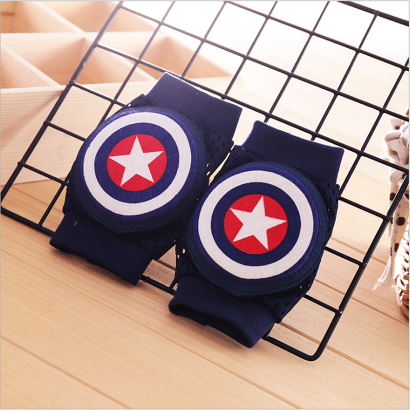 Captain America's Knee Pads For Baby Leg Warmers Kids Safety Crawling Elbow Cushion Infant Toddler Baby Foot Warmer Knee Pads