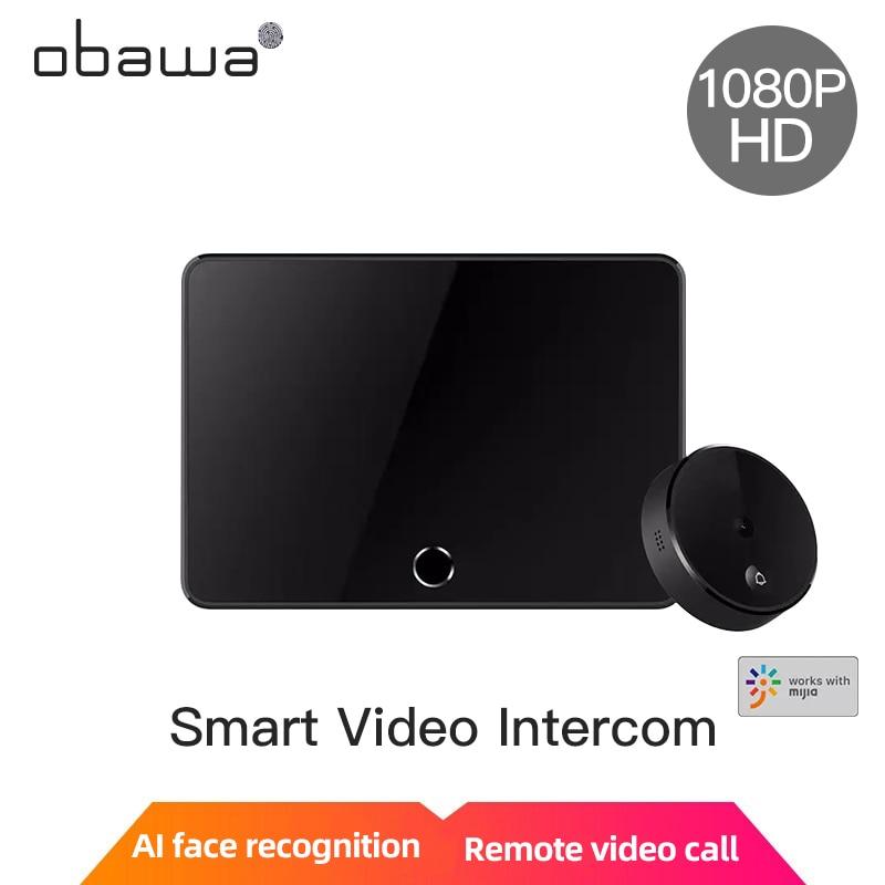 Obawa Video doorbell wireless intercom doorbell smart camera Xiaomi Xiaobai Mihome APP face recognition Wireless Smart Video