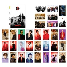 32Pcs/Set KPOP EXO CHANYEOL SEHUN Self Made Paper Lomo Card Photo Card Poster HD Photocard Fans Gift Collection