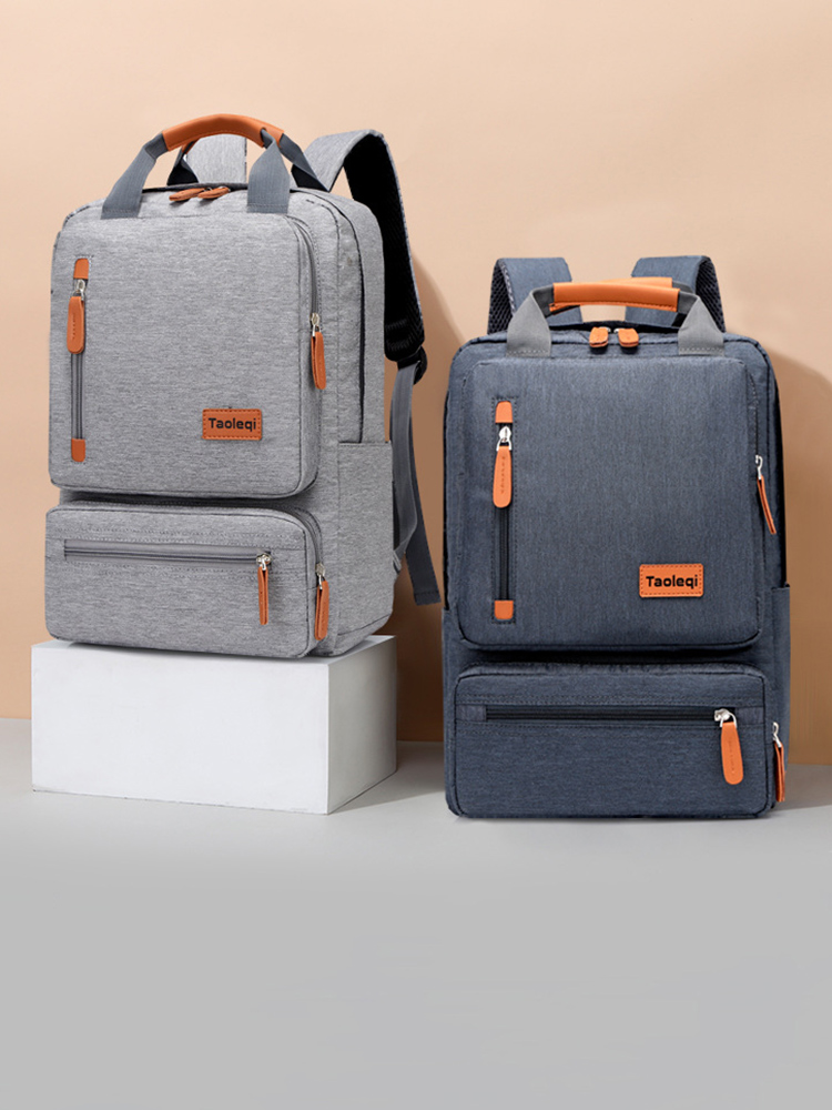 Computer Backpack Light Laptop-Bag Business Gray Anti-Theft travel Casual Men Lady