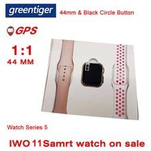 Greentiger GPS IWO 11 Bluetooth 44mm inteligentny zegarek 1 1 tętno aparat ciśnienia krwi muzyka GPS zegarek sportowy VS IWO 8 B57 iwo 9 tanie tanio Brak Na nadgarstku Wszystko kompatybilny 128 MB Passometer Fitness tracker Uśpienia tracker Wiadomość przypomnienie