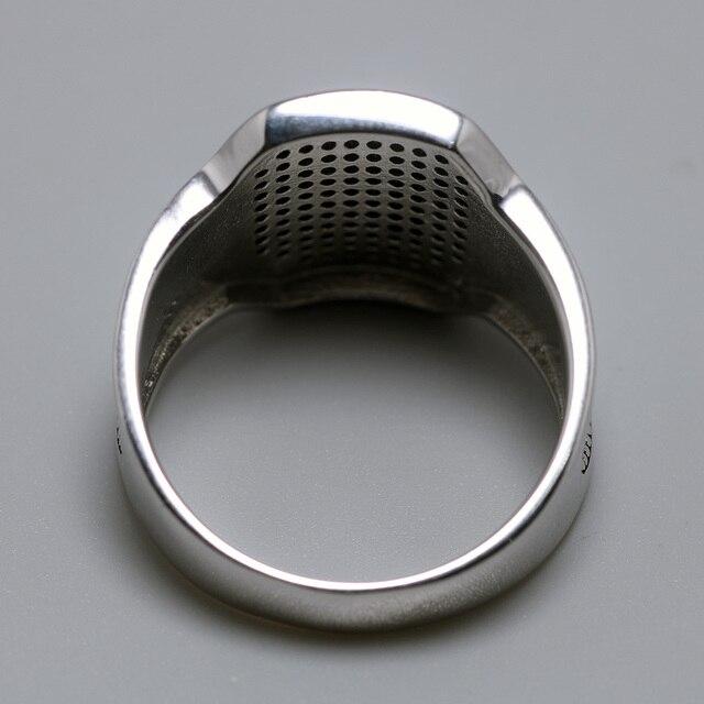 Фото однотонные серебряные кольца 925 пробы крутое ретро винтажное