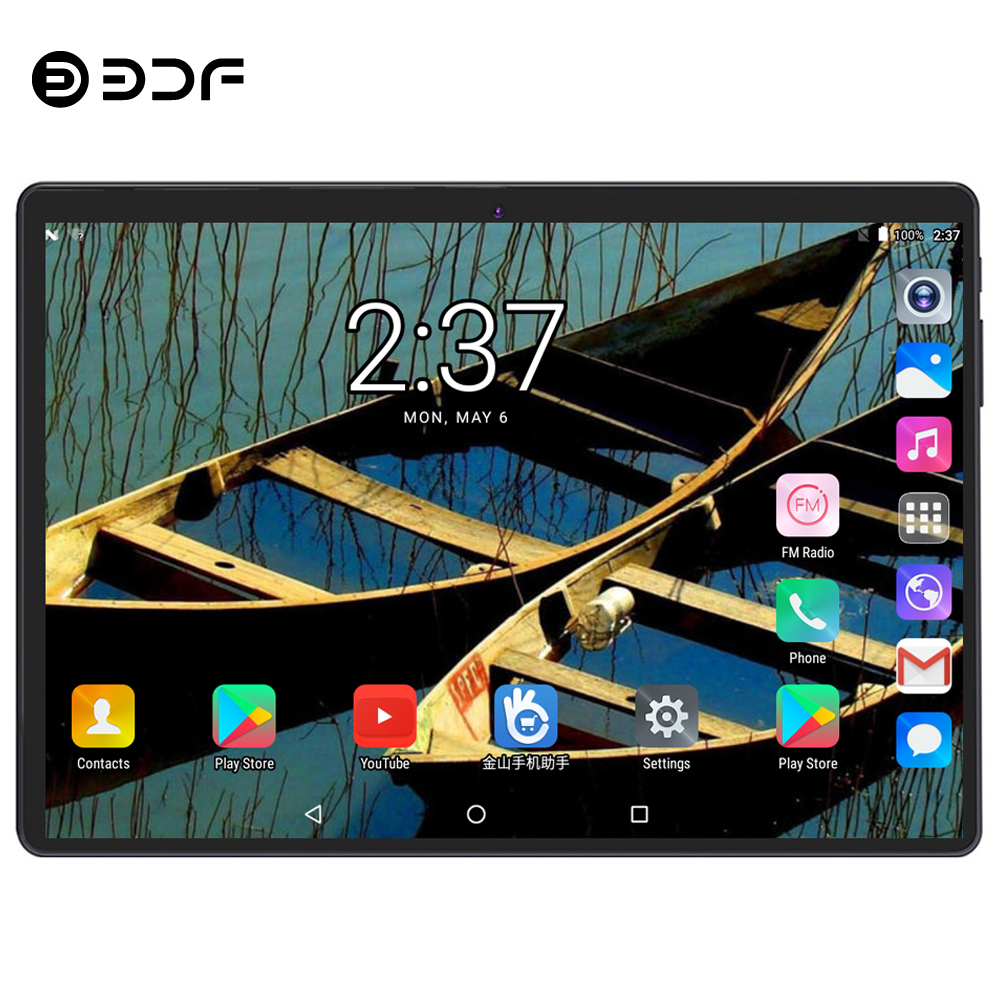 BDF 2019 Tablets 10 Inch Tablet Pc 4GB/64GB 4G LTE Tablet Android 7.0 Octa Core 1280*800 IPS WiFi Bluetooth Android Tablet 10.1