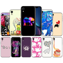 Tato Tribal Gajah Cinta Balon Karet Silikon Lembut Case Cover UNTUK iPhone X XS XR X 11 11Pro Max 7 8 6 6S 5 5S 5 5C Se PLUS(China)