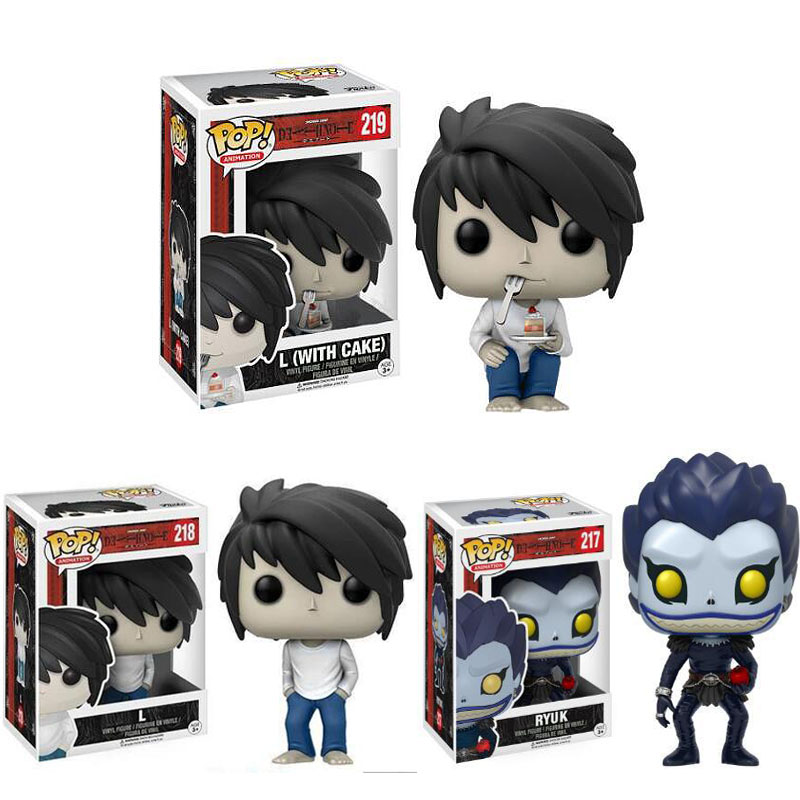 Funko POP Death Note L With Cake RYUK Action Movie Vinyl Dolls Collection Model Toys For Christmas Gift Halloween