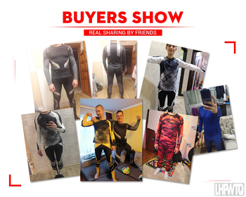 Men's Compression Running Set Tight Legging Shirt Pant Long Sleeves Clothing Tracksuit Suit Man Winter sports Thermal underwear 5