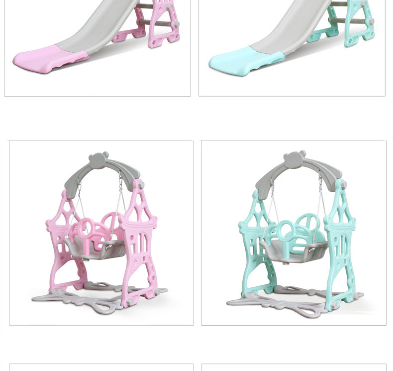 H400ab09e69c640649c40d2739165509dc 3 in 1 Baby Slides And Swing Chair Basketball Story Home Kids Playground Plastic Slides Set Toy Indoor Family Kindergarten