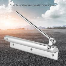 все цены на Automatic Closing Fire Rated Door Closer Stainless Steel Adjustable Strength Spring Buffer Door Closer онлайн