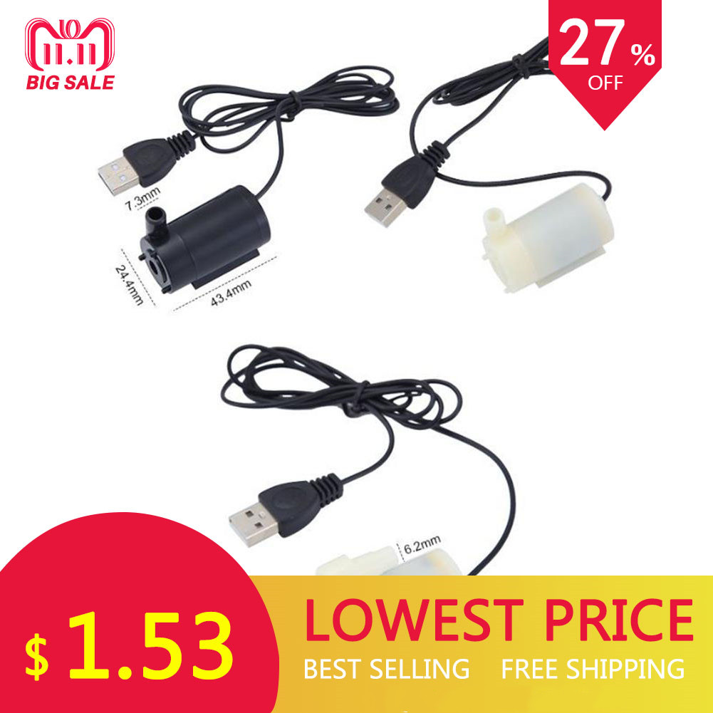 USB 1 Meter Cable DC Mute Small Water Pump Mini Submersible Pump 5V