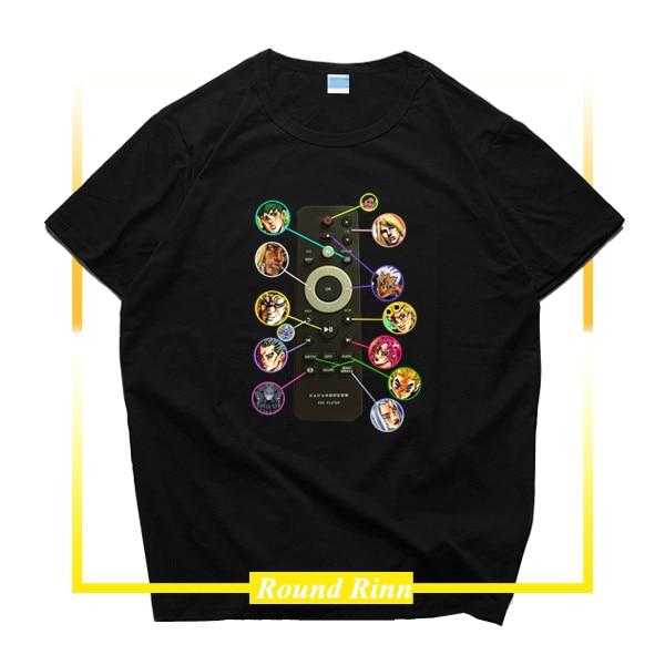 JOJO'S невероятное приключение dio brando Кира Yoshikage DVD плеер Дистанционное Управление футболка Косплэй футболка с короткими рукавами