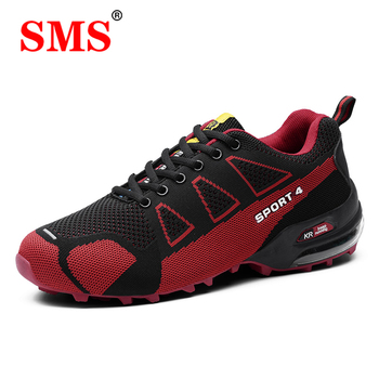 SMS Men Shoes Outdoor Hiking Shoes Climbing Sport Breathable Sneakers Men Hunting Trekking Shoes Summer Mesh Anti-skid Trainers merrto women s outdoor hiking trekking sneakers anti skid wear resistant damping shoes camping climbing mountain travel shoes