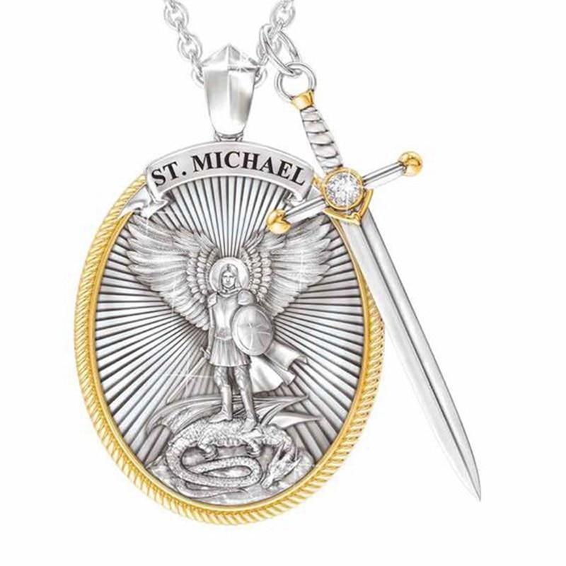 Католический покровителя кулон Майкл СВ кулон «Архангел» Цепочки и ожерелья; Прямая поставка; В наличии